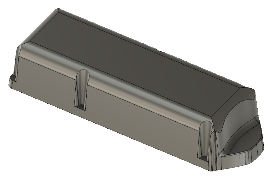Rear enclosure CAD model