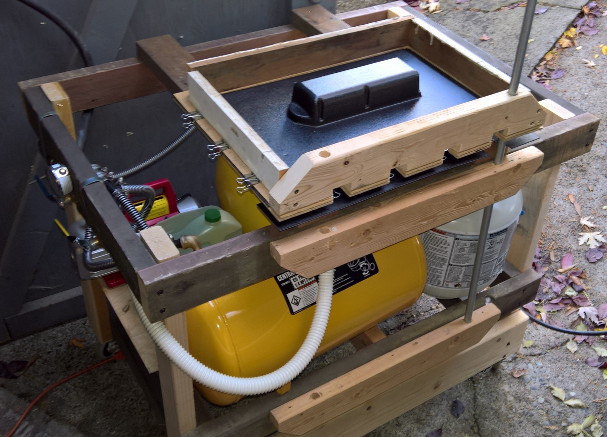 Rear enclosure vacuum forming